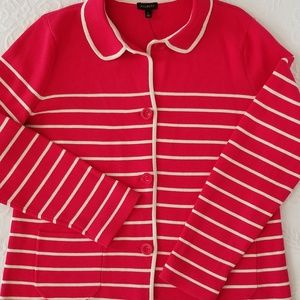 Talbots Knit Sweater Jacket Size L NWT